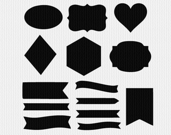 shapes svg dxf cut file instant download stencil silhouette cameo cricut downloads clip art commercial use