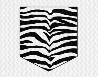 zebra print pocket svg dxf file instant download silhouette cameo cricut downloads clip art commercial use