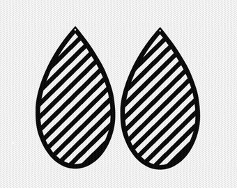 stripes earring template earring svg gift tags cricut download svg dxf file stencil silhouette cameo cricut clip art commercial use