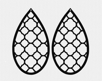 pattern earring template earring svg gift tags cricut download svg dxf file stencil silhouette cameo cricut clip art commercial use