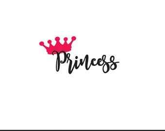 princess svg dxf file instant download silhouette cameo cricut clip art