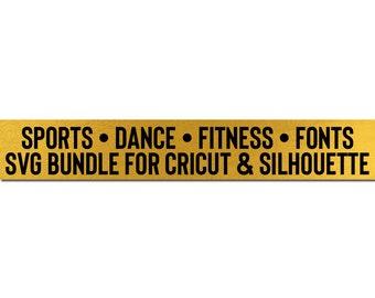 sports dance fitness cricut downloads bundle svg files bundle // svg file download silhouette cameo cricut downloads clip art commercial use