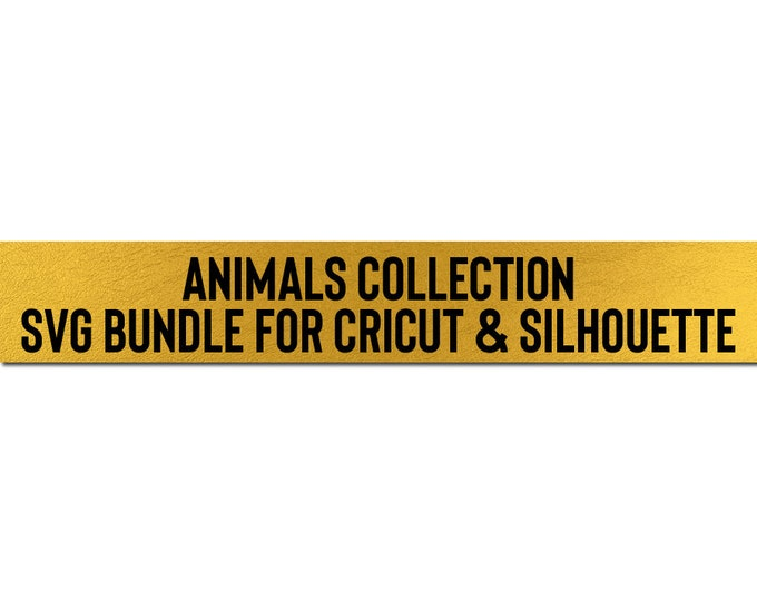 sale // animals collection // svg dxf file instant download silhouette cameo cricut downloads clip art