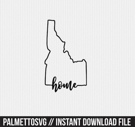 idaho home svg dxf file instant download stencil silhouette cameo cricut downloads cut file downloads clip art commercial use