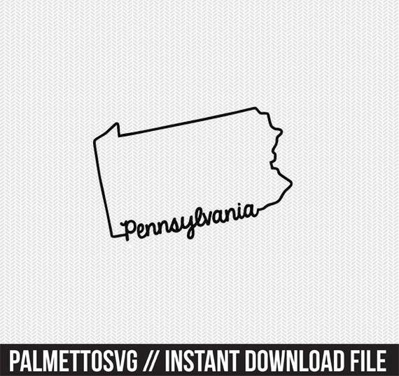 pennsylvania svg dxf file instant download stencil silhouette cameo cricut  downloads cut file downloads clip art commercial use