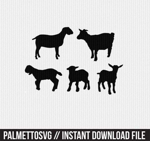 Download goat svg dxf jpeg png file instant download stencil ...