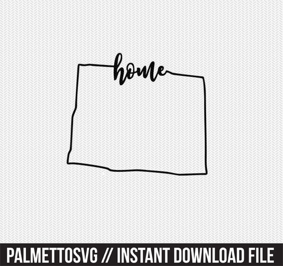 Colorado Home Svg Dxf File Instant Download Stencil Silhouette Etsy
