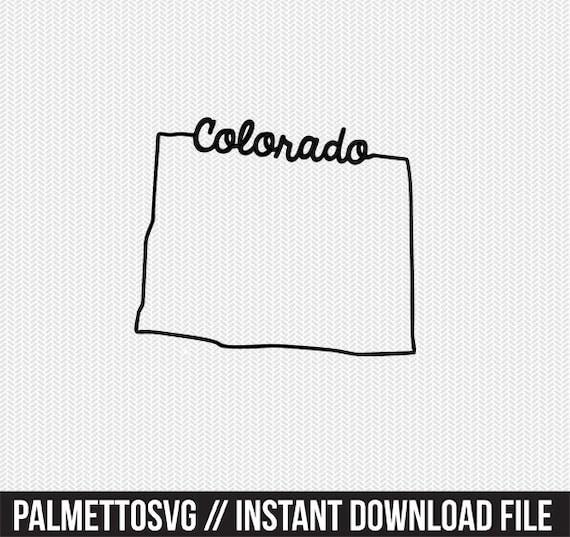 Colorado digital download Colorado SVG Colorado cut files Colorado Silhouette Colorado Cricut