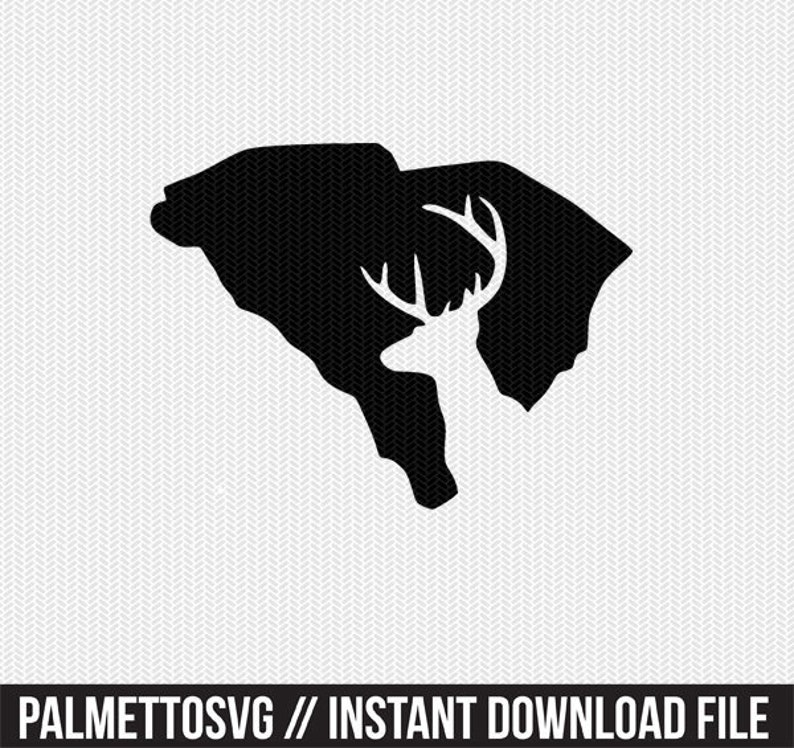 south carolina deer hunting svg dxf file stencil instant download  silhouette cameo cricut downloads clip art deer hunting state svg dxf file