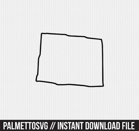 Colorado State Outline Svg Dxf File Stencil Monogram Frame Etsy
