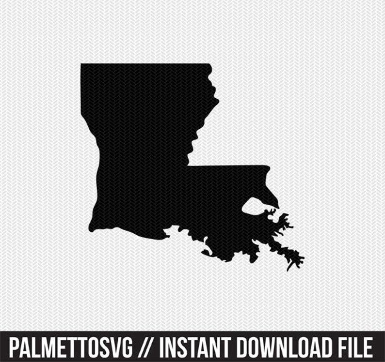 Louisiana svg dxf cut file stencil silhouette cameo cricut ...