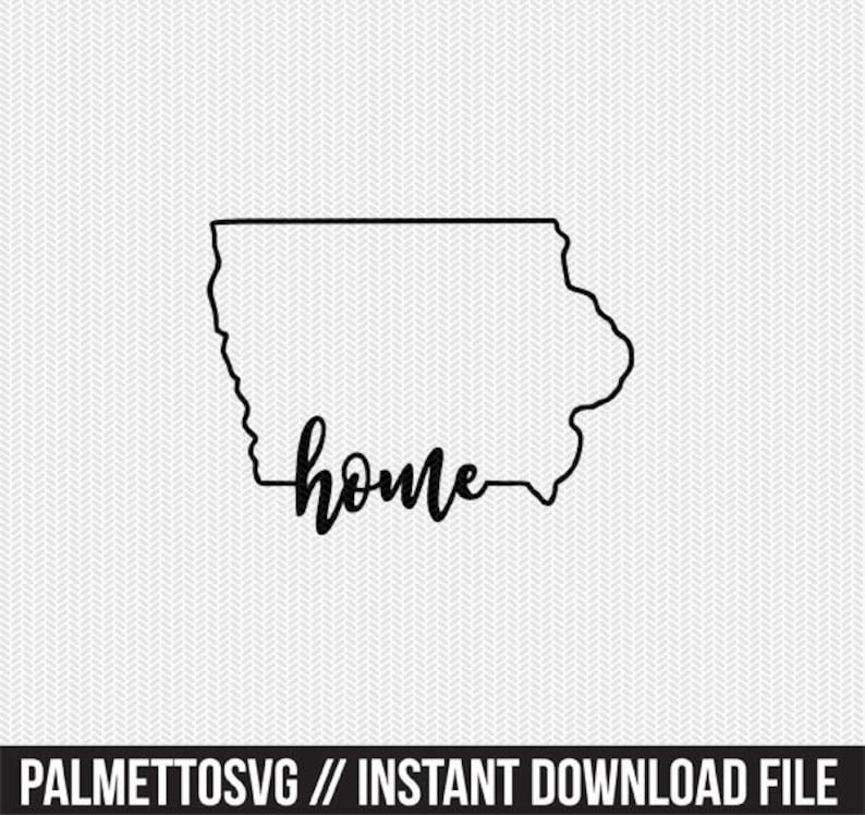iowa home svg dxf file instant download stencil silhouette cameo cricut  downloads cut file downloads clip art commercial use
