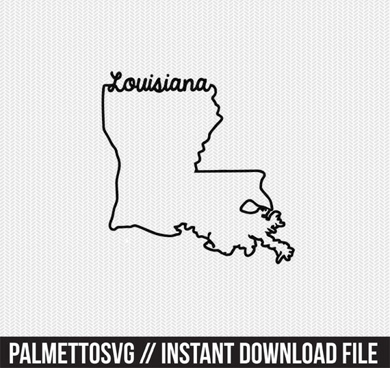 louisiana svg dxf file instant download stencil silhouette cameo cricut  downloads cut file downloads clip art commercial use