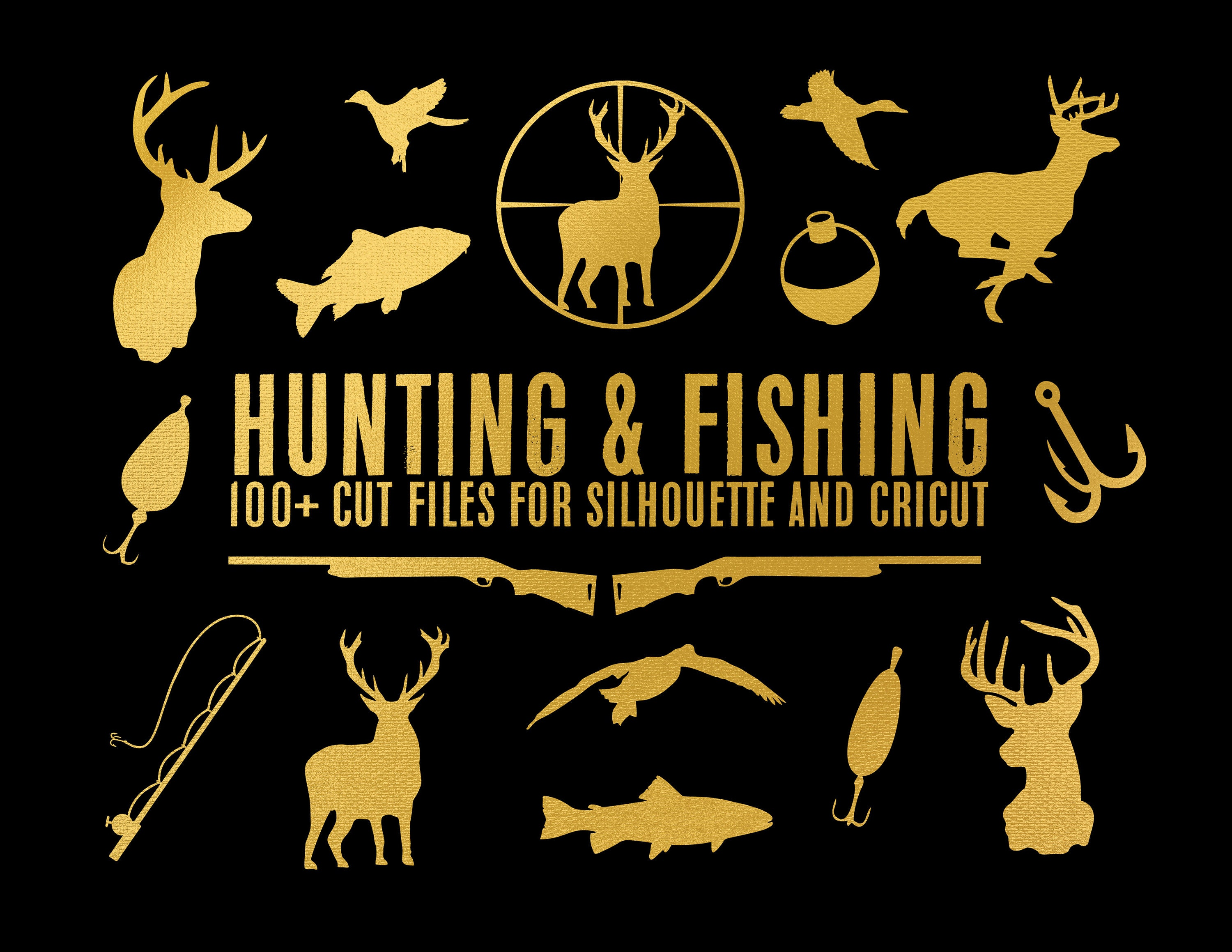 sale // hunting & fishing collection // svg dxf file instant download