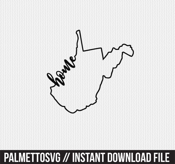 west virginia home svg dxf file instant download stencil
