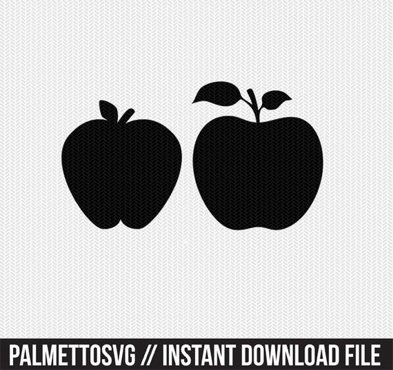 Apple Fruit Stencil Svg Dxf File Instant Download Silhouette Etsy
