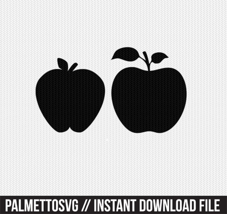 apple fruit stencil svg dxf file instant download silhouette cameo cricut  downloads clip art