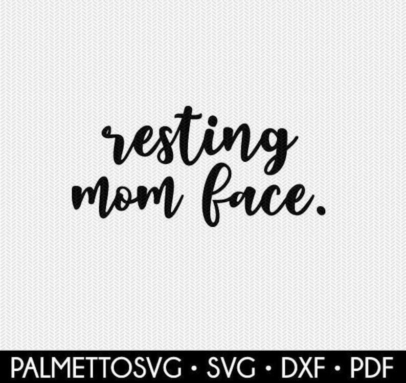 resting mom face clip art svg dxf file instant download silhouette cameo cricut clip art commercial use cricut download