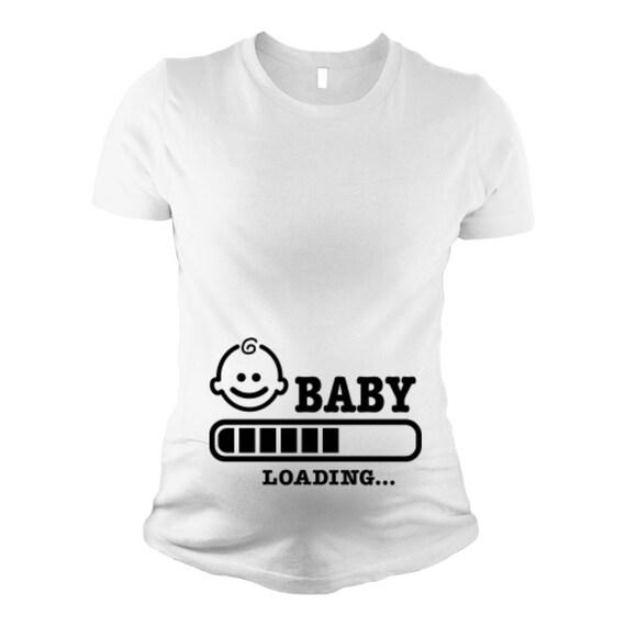 79d37b83 Baby Loading Shirt Loading Pregnancy Shirt Loading Baby T | Etsy