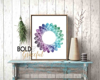 Spirograph Art / Instant Download Printable Art / Modern Wall Art Printable / Abstract Print / Digital Download / Geometric Art / Colorful /