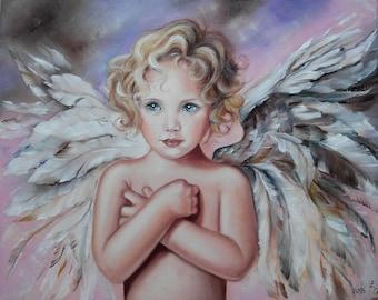 My Angel Oil Painting Girl