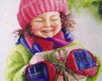Children's Joy! Oil Painting Girl, child painting
