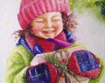 Children's Joy! Oil Painting Girl, child painting