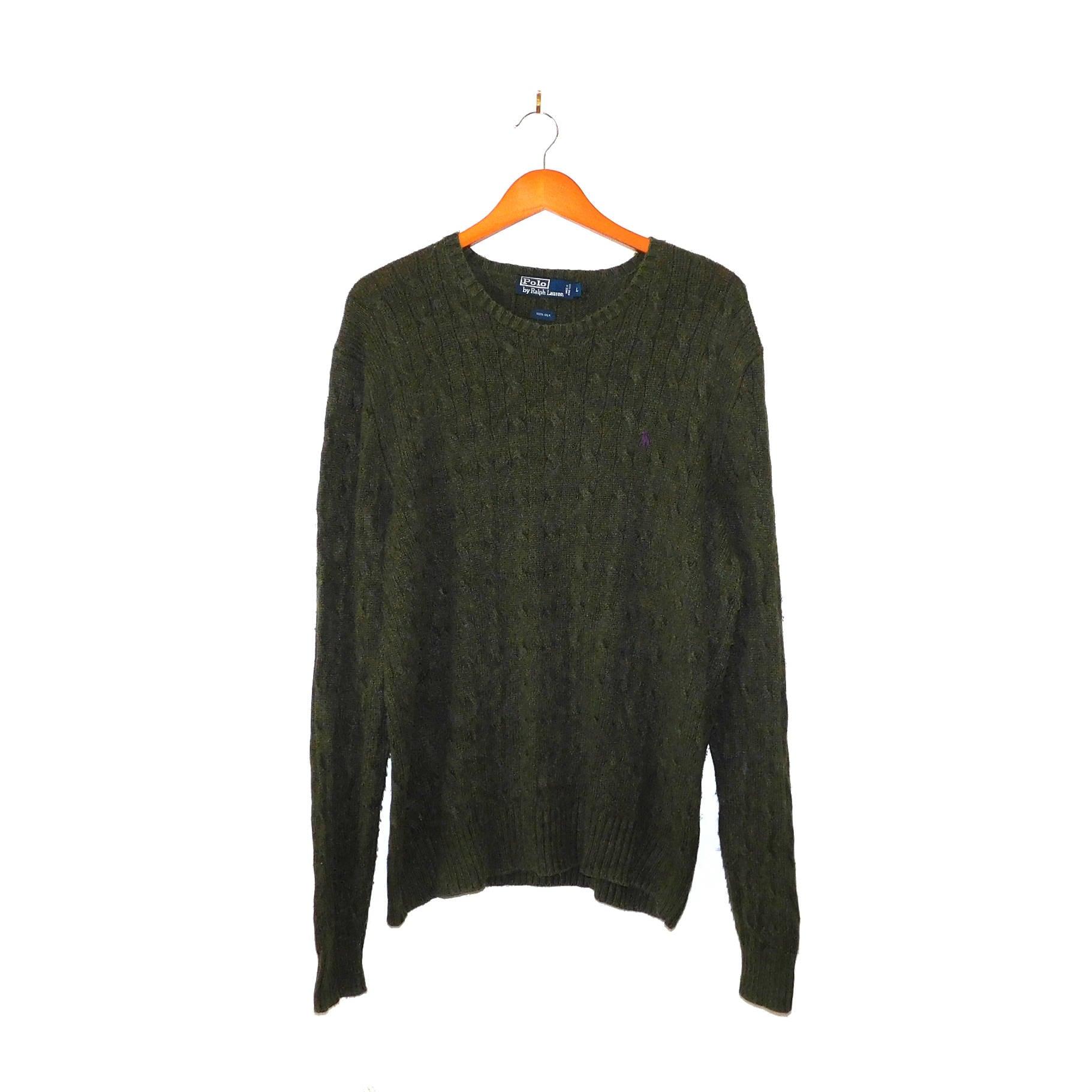 Knit Pullover Green Polo Ralph Lauren Sweater Dark Large Tu1lFJcK3
