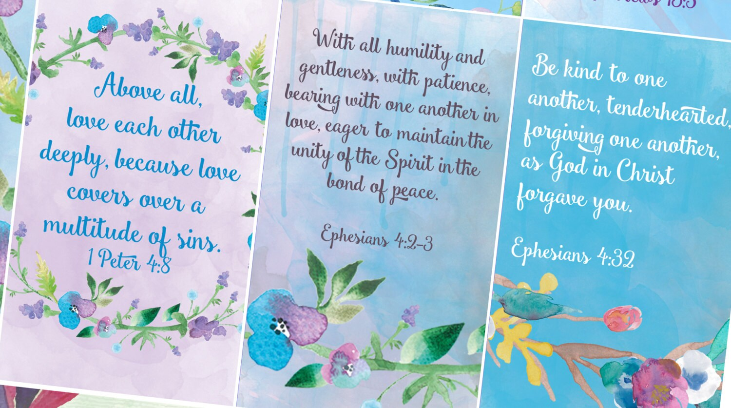 pocket bible verse cards love marriage family etsy