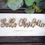 Personalized Name Meaning Wood Sign | First Middle | Laser Cut Wood | Nursery Decor | Baptism Gifts | Baby Name Gifts | Christmas Gift