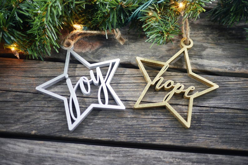 Religious Christmas Tree Ornaments  Laser Cut Ornaments  image 0
