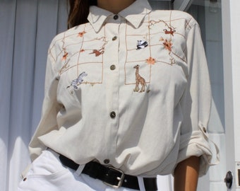 Vintage poly/cotton/linen shirt