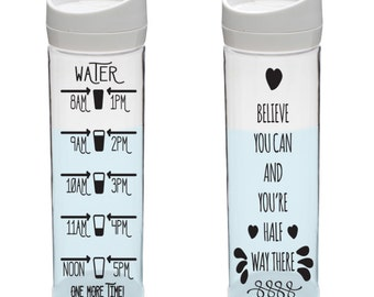 WATER BOTTLE MOTIVATION Cut File!  Svg, eps, dxf, png included. Silhouette cut files, cricut cut files, for water bottle