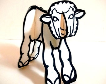 Lamb Coloring - Printable  Toy