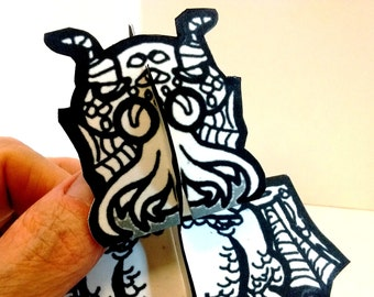 Cthulhu Swamp Thing Monster Paper Figure - Printable Toy