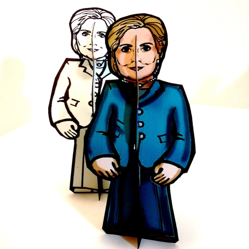 Hillary Clinton for President Paper Doll Set  Printable image 0