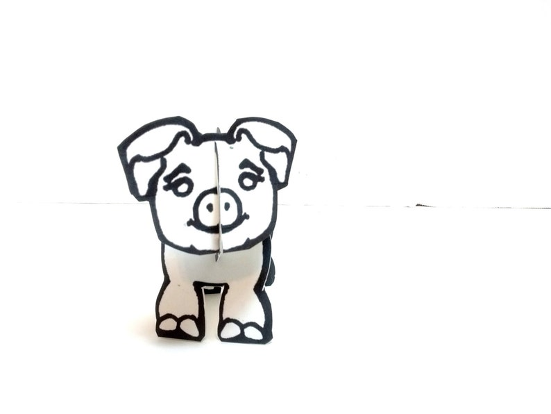 Color-in and Make Pig  Printable Toy image 0