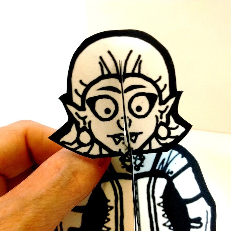 Girl Vampire Monster Paper Figure  Printable Toy image 0
