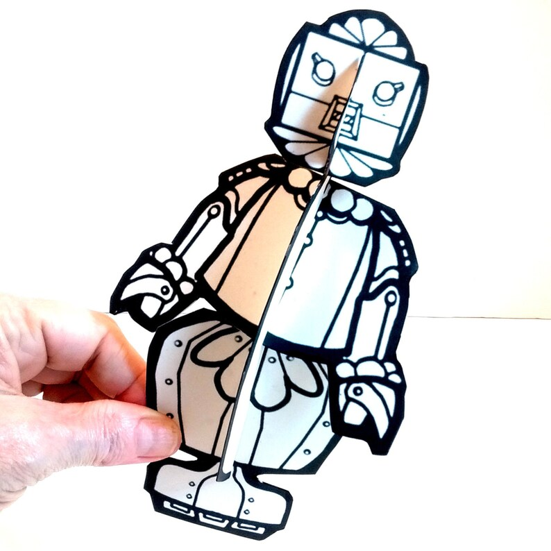 Rosie the Robot Paper Doll  Printable Toy image 0