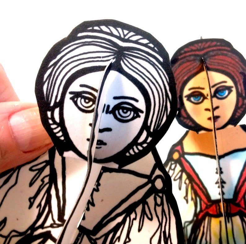 Ada Lovelace Set of Two Paper Doll  Printable Toy image 0