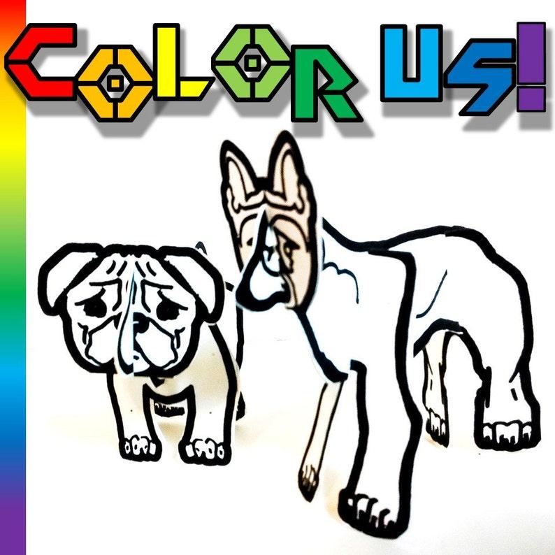 Color and Make Dog Bundle  Printable Toy image 0