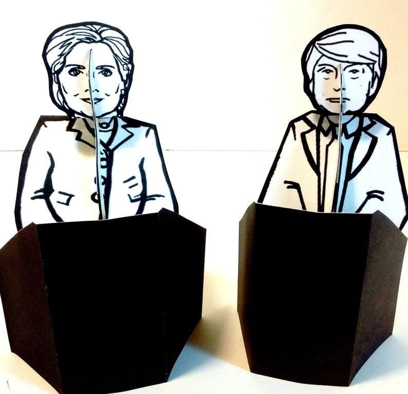 Donald Trump  Hillary Clinton Debate Paper Doll Bundle  image 0