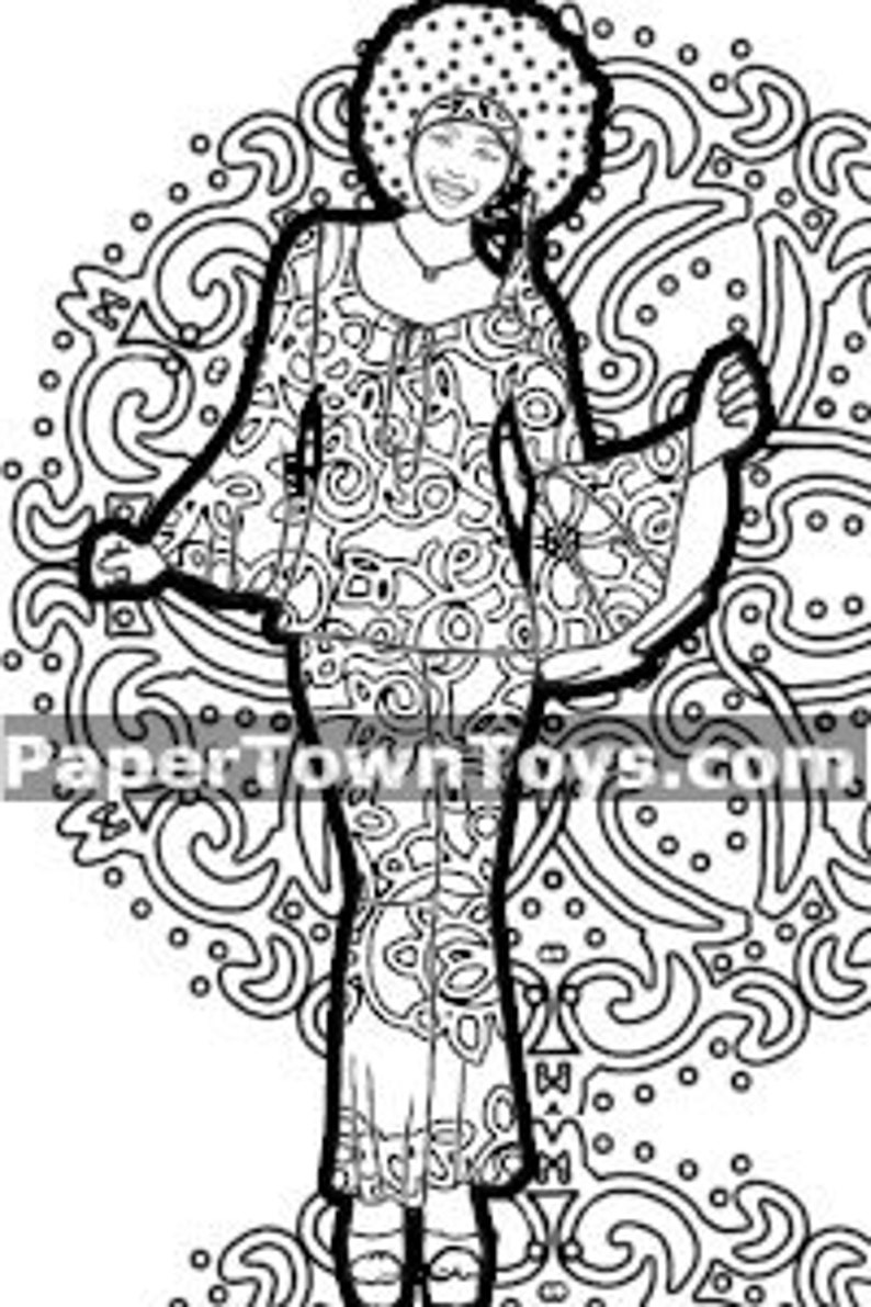 Dancing Queen Coloring Page image 0