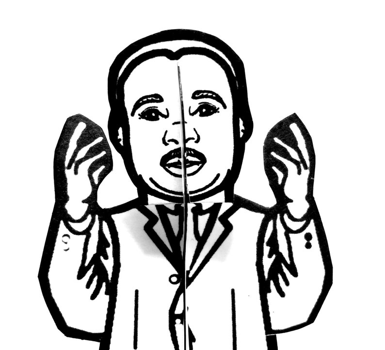 Martin Luther King Jr Paper Figure  Printable Activity image 0