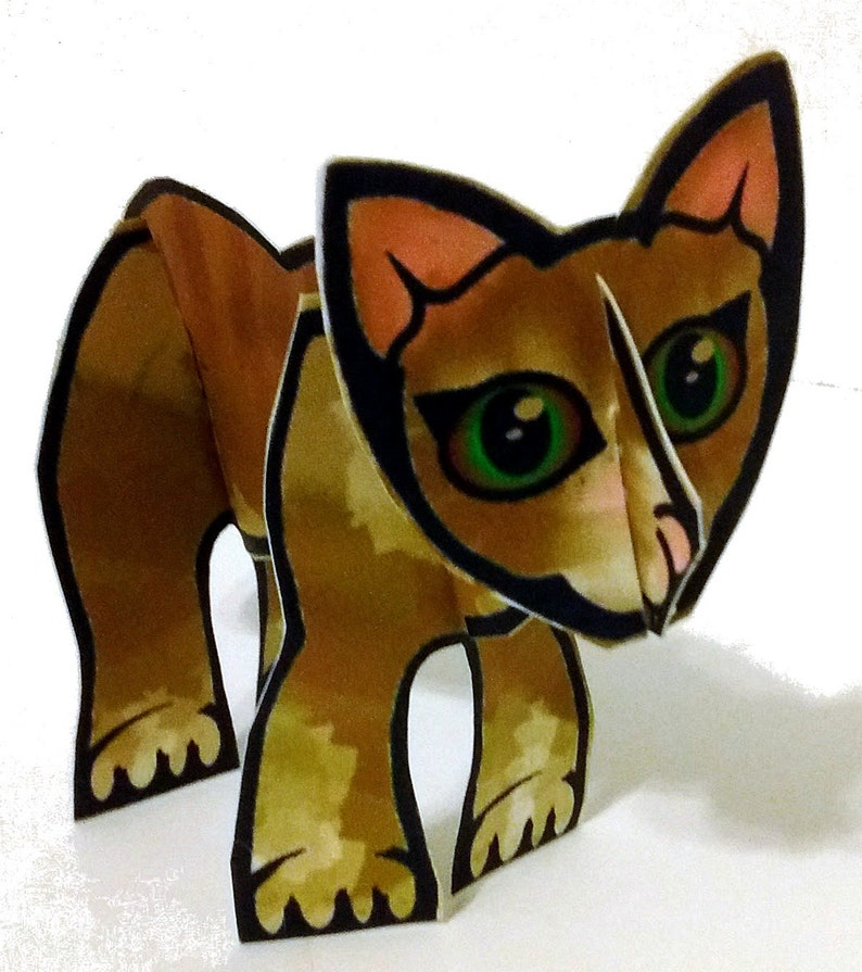 Ready-to-Play Ginger Cat  Printable Toy image 0
