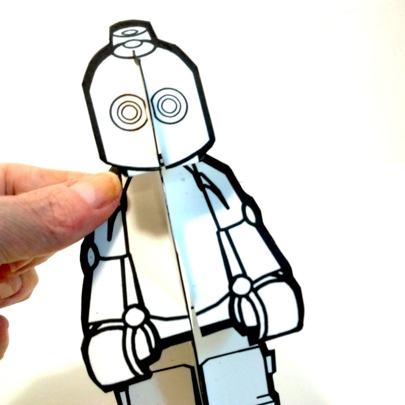 Robot to Color Paper Doll  Printable Toy image 0