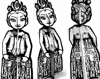 Color and Make Paper Doll Frost Princess - Printable  Toy