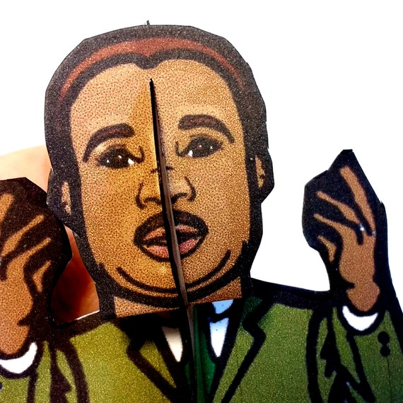 Martin Luther King Jr Coloring Paper Figurel Set Printable Etsy