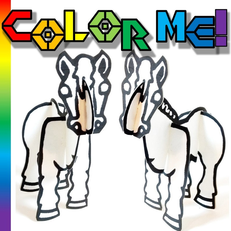 Color In Horse  Printable Toy image 0