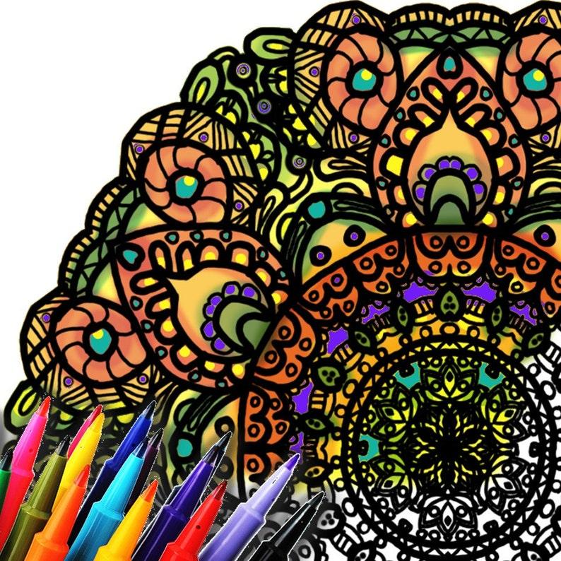 Mandala Coloring Page Printable Download  Byzantine image 0